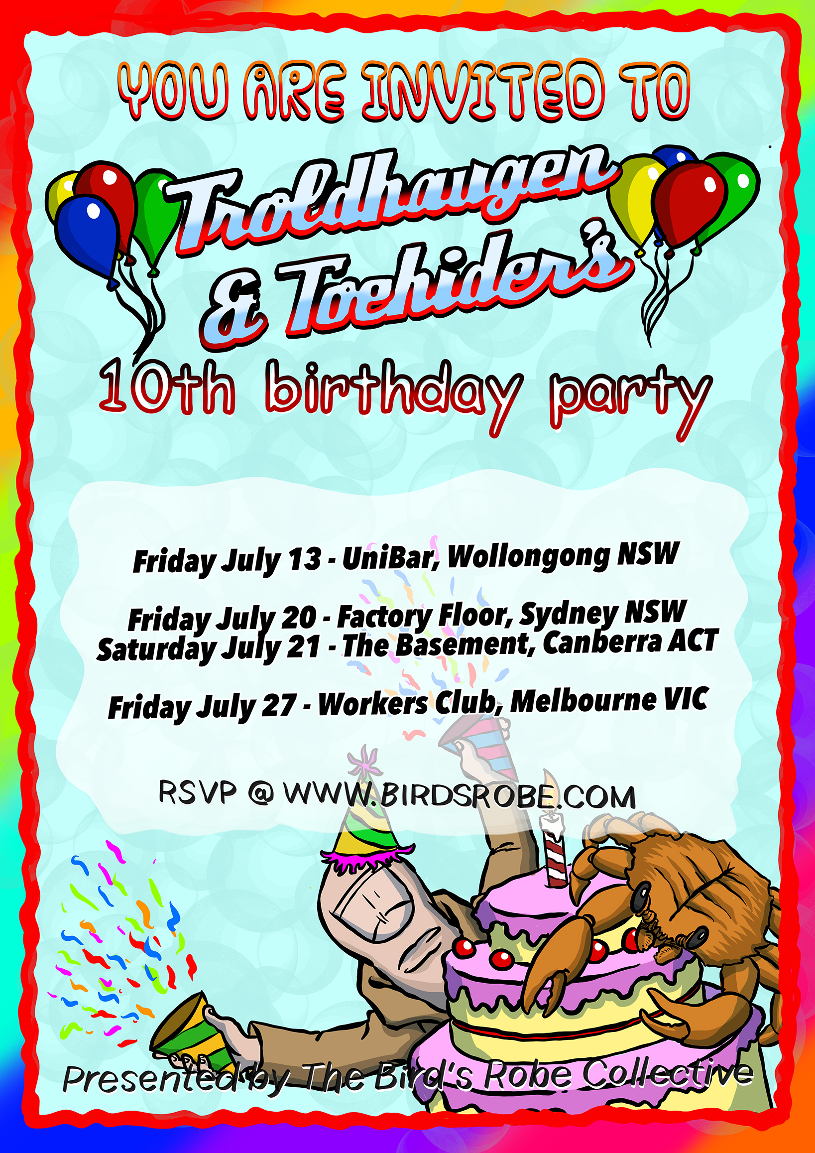 Toehider & Troldhaugen announce 10th anniversary co-headlining tour for July