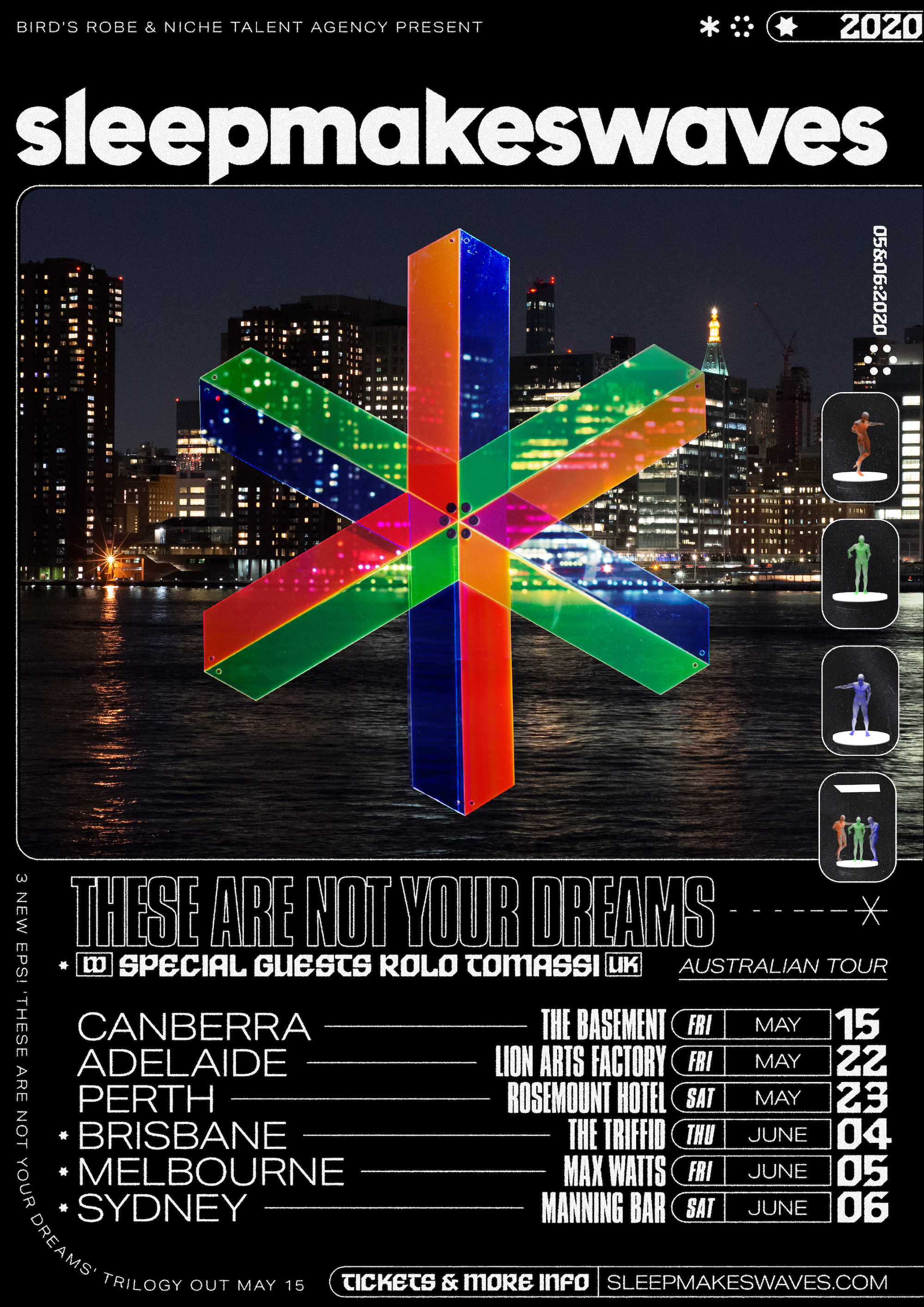 sleepmakeswaves announce 'these are not your dreams' Australian tour w/Rolo Tomassi (UK)